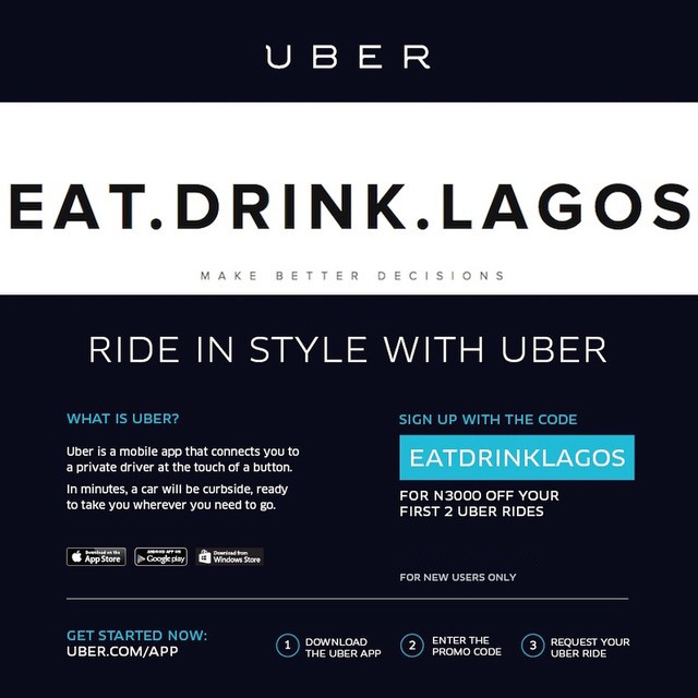Eat.Drink.LagosxUber