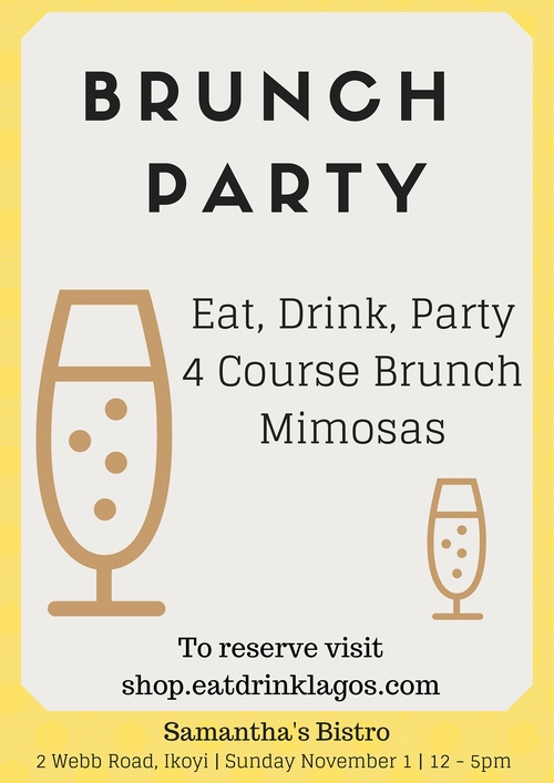 Brunch Party Eat Drink lagos