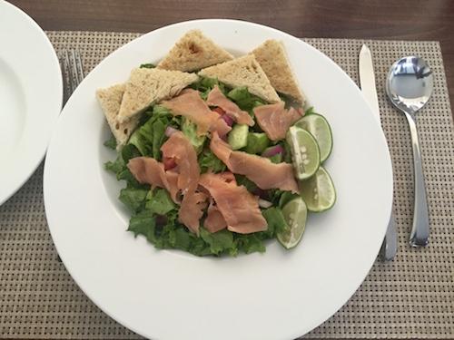 smoked salmon salad scarlet lodge victoria island