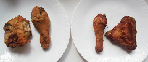 Left: KFC; Right: Chicken Republic
