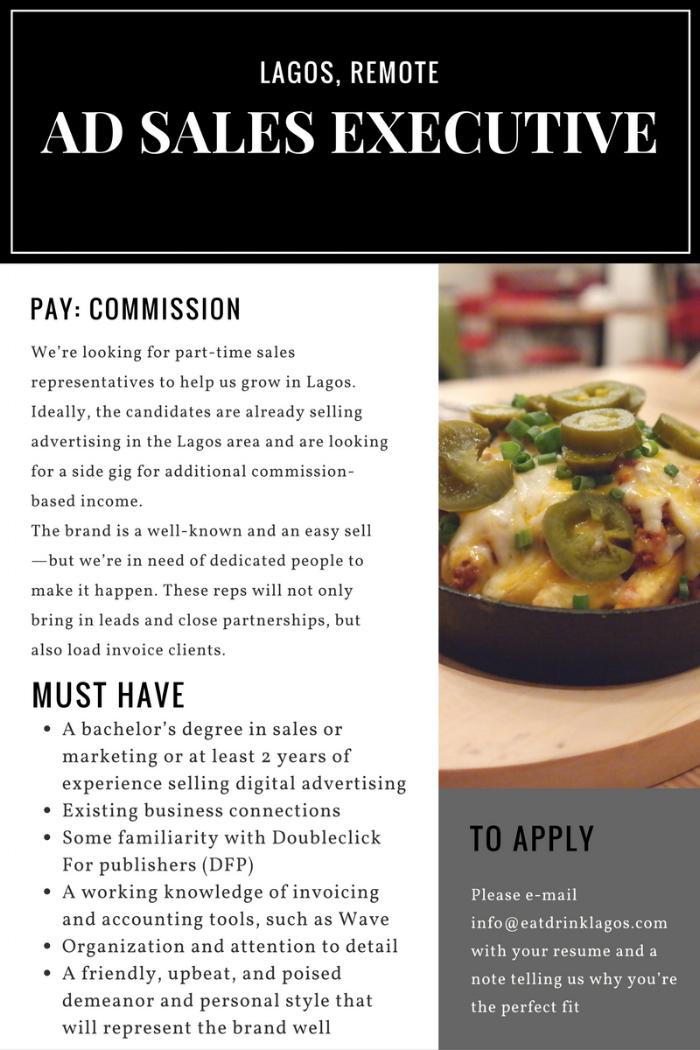 ad sales executive job post