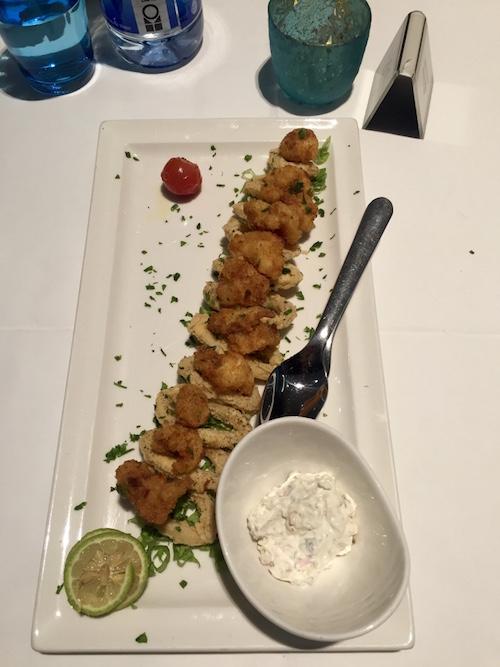 Golden Fried Calamari and Prawns -