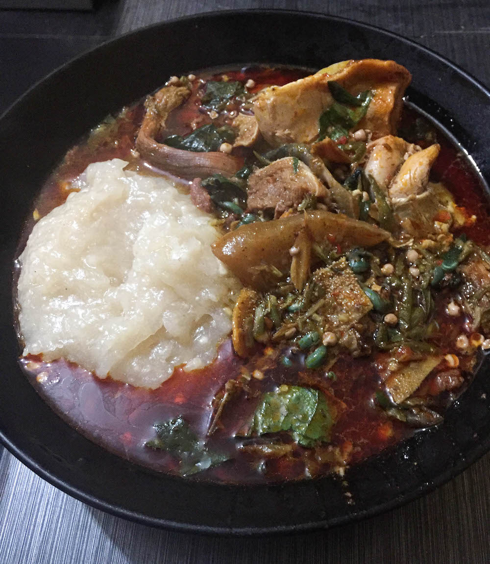 - Nigerian soups are interesting in that you can often tell the socio-economic status of the