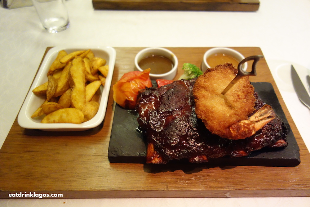 Half Rack of Beef Ribs with Coconut Prawns