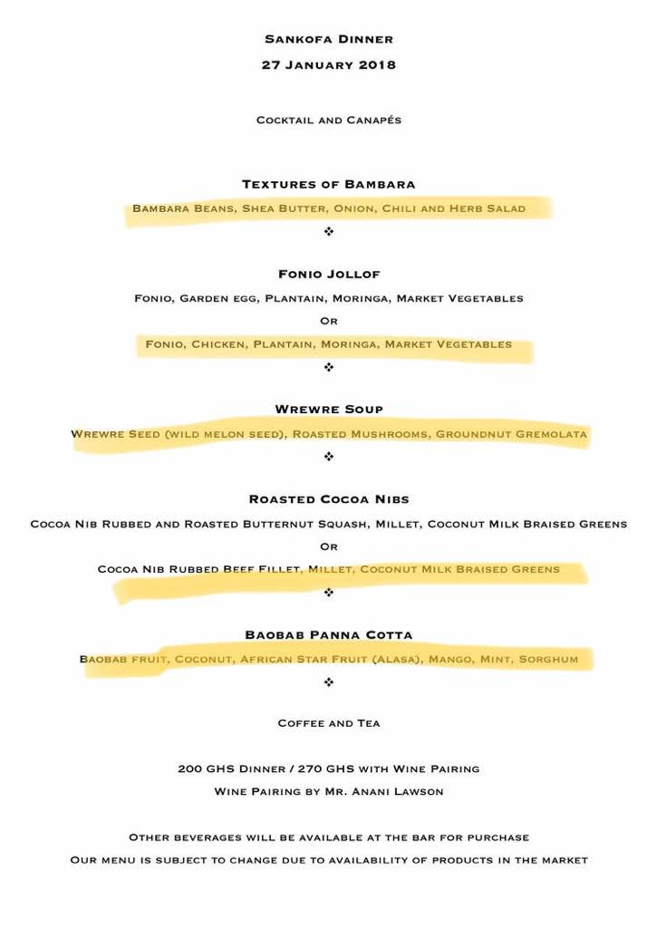 The menu with our selections highlighted