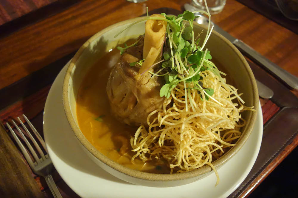Thai ed Curry  with a pork shank