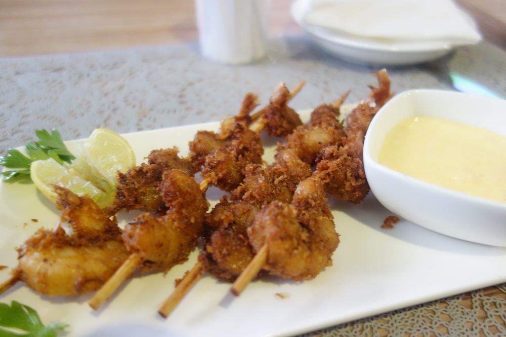 Coconut Crusted prawn