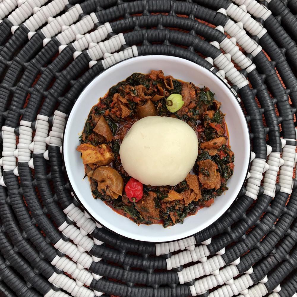 Pounded Yam & Efo Riro