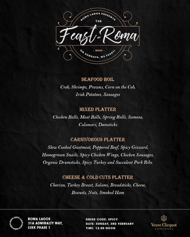 MENU - Feast At Roma.JPG