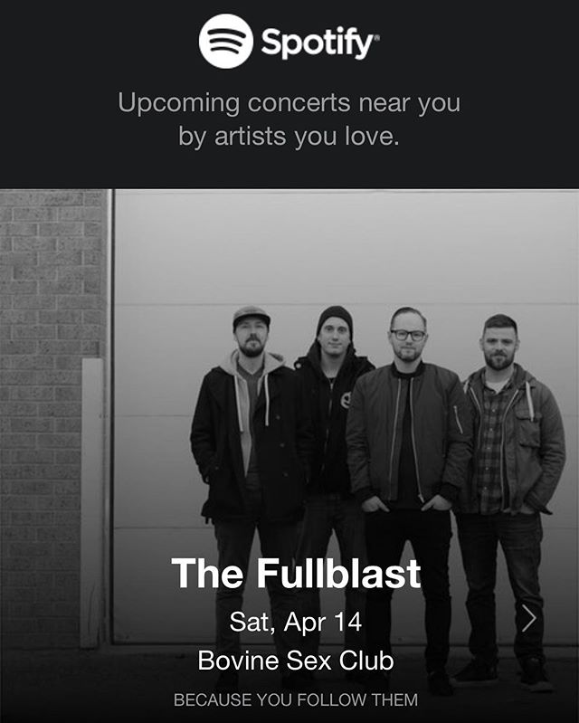 We see you @Spotify. Holy shit we should probably schedule a jam... @andyclewis @dbotnik @bri_aws @johntakesphotos