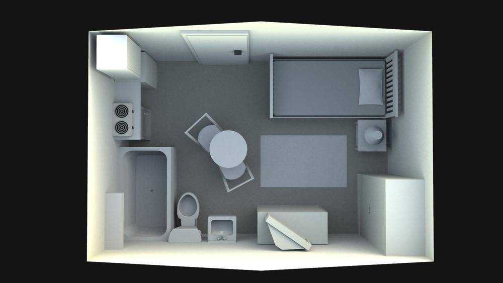 Room Overhead Rendering