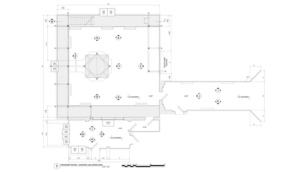 HAWKINS LAB FLOOR PLAN