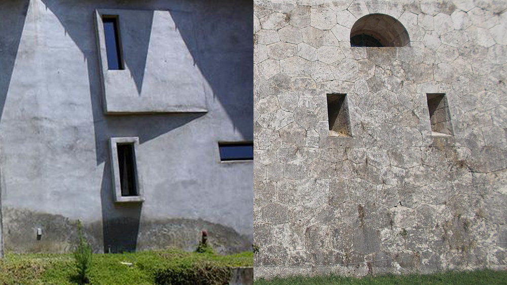 Windows at Madison House vs. Concrete Bunker Embrasure