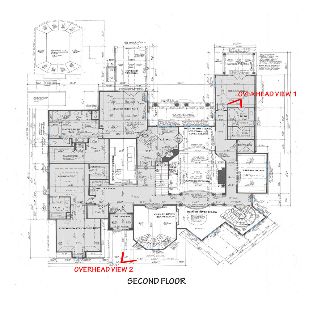 FLOOR PLANS AND OVERHEAD VIEWS