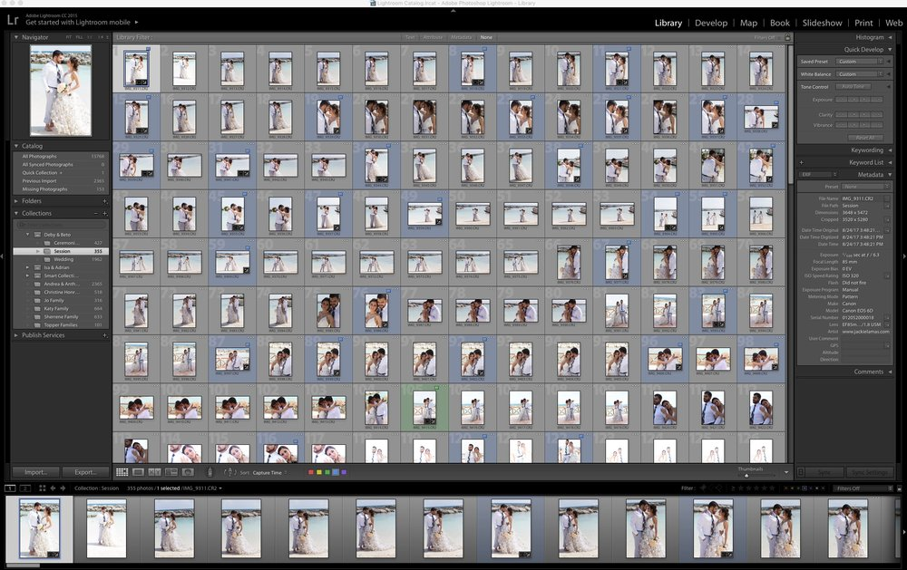All of the blue photos are the chosen ones for final edits.