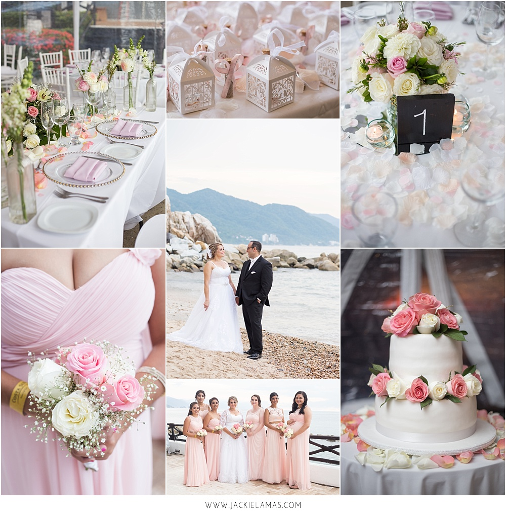 A rose blush wedding overlooking the waters of the pacific.