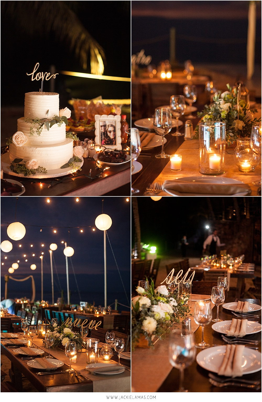 The two photos above are from the same wedding. A rustic beach wedding in Puerto Vallarta, Mexico
