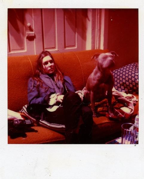 Martha Colburn with pal Late 1990s, NYC