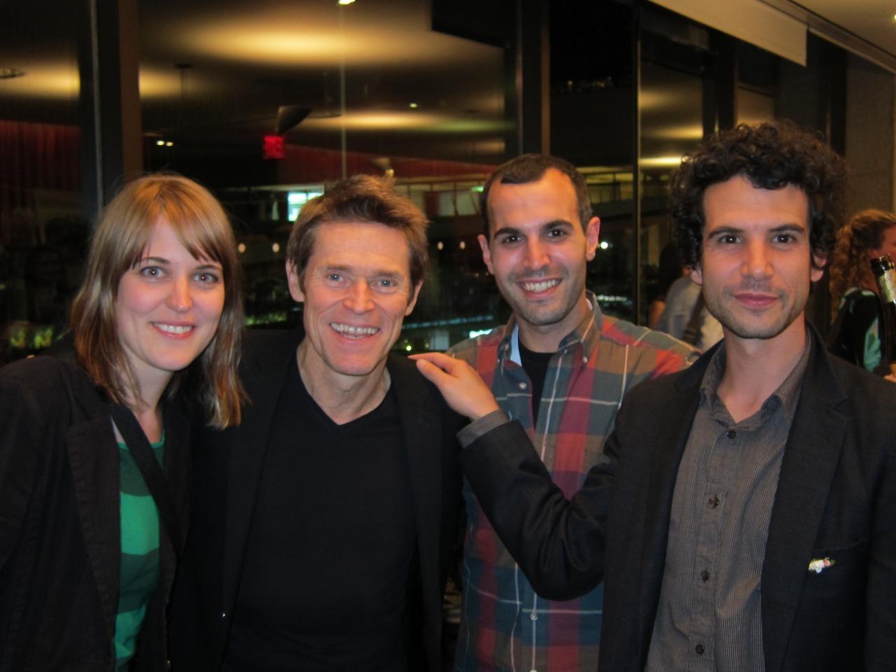 Lori Felker, Willem Dafoe, Fern Silva, Jonathan Schwartz NY Film Festival, Oct. 2011