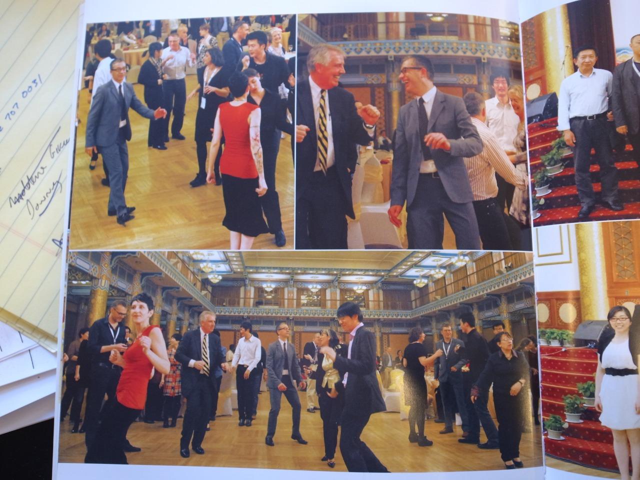 Film archivists dancing in Beijing