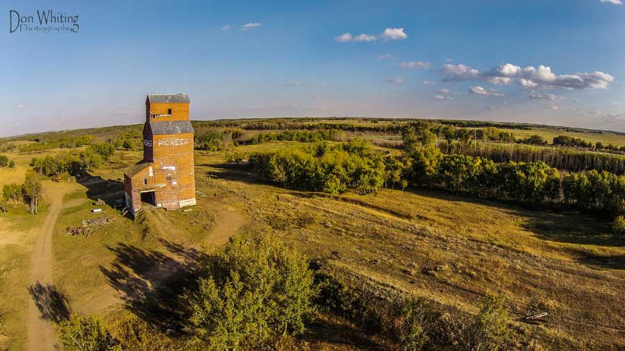 Aerial Photography Grain Elevator in Lloydminster