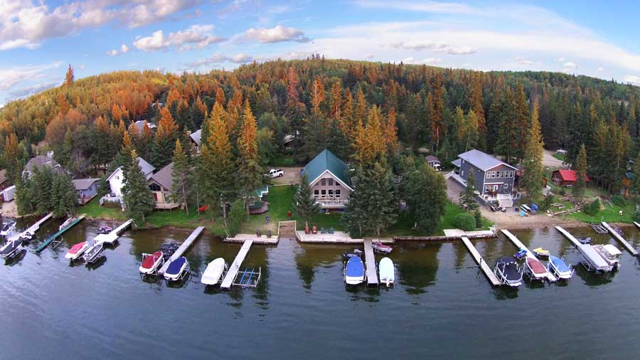 Local Lloydminster Cabins Aerial Photography
