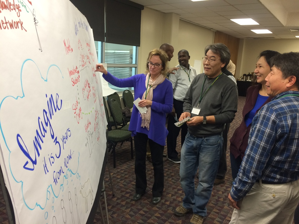 Partners from Kenya, Mongolia and the Western US visualize their successful collaborative.