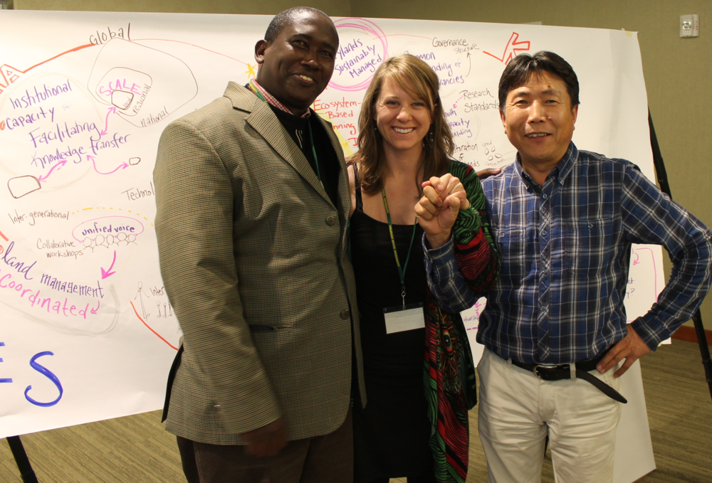 I can't wait to meet you and have a great time working together like I did with these participants from Kenya and Mongolia for an international Drylands Collaborative Workshop, spring 2015.