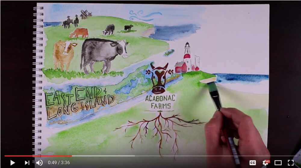 I'm happy to share the  video  I created for Acabonac Farms' Pasture-Finished Beef company based on Long Island, New York. Their cattle live their entire lives on grass pastures that have actually historically been cattle ranches for over 350 years! Who knew cows thought the Hamptons are the place to be? Click on the image above to watch the video!