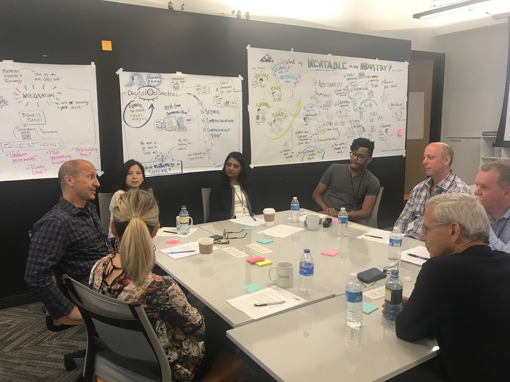 Boulder:  Working with startups and seasoned executives in the optics business to co-create and brainstorm ways to foster success on the leading edge of the industry. Thanks to  Sanitas Advisors  for the photo!