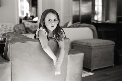 girl in living room photograph by Portland photographer Linnea Osterberg