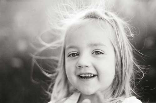 smiling girl photograph by Portland photographer Linnea Osterberg