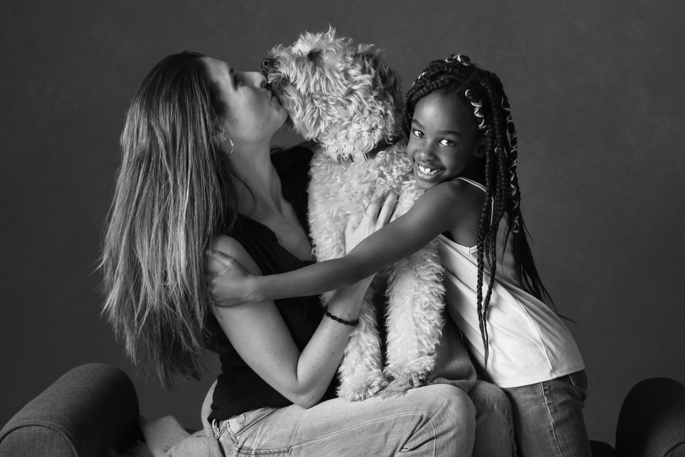 Mom + Dog + Daughter is a great way to Come as You Are