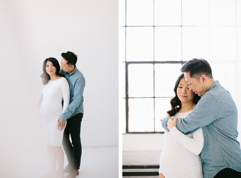 natural studio maternity shoot seattle