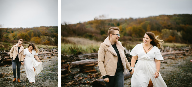 stunning lesbian couple engagement session