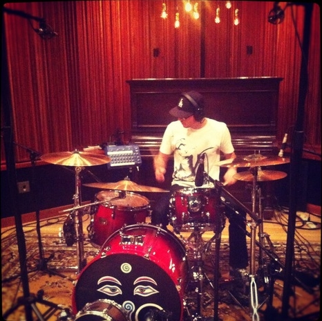 Davi-D recording drums at Immersive Studios, Boulder.