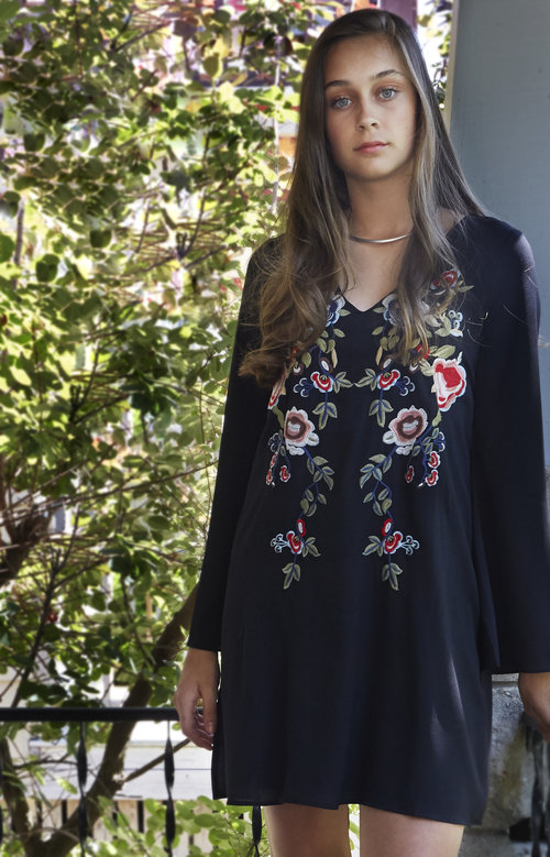 002a11d92bdab1 Sugarlips Black Embroidered Dress