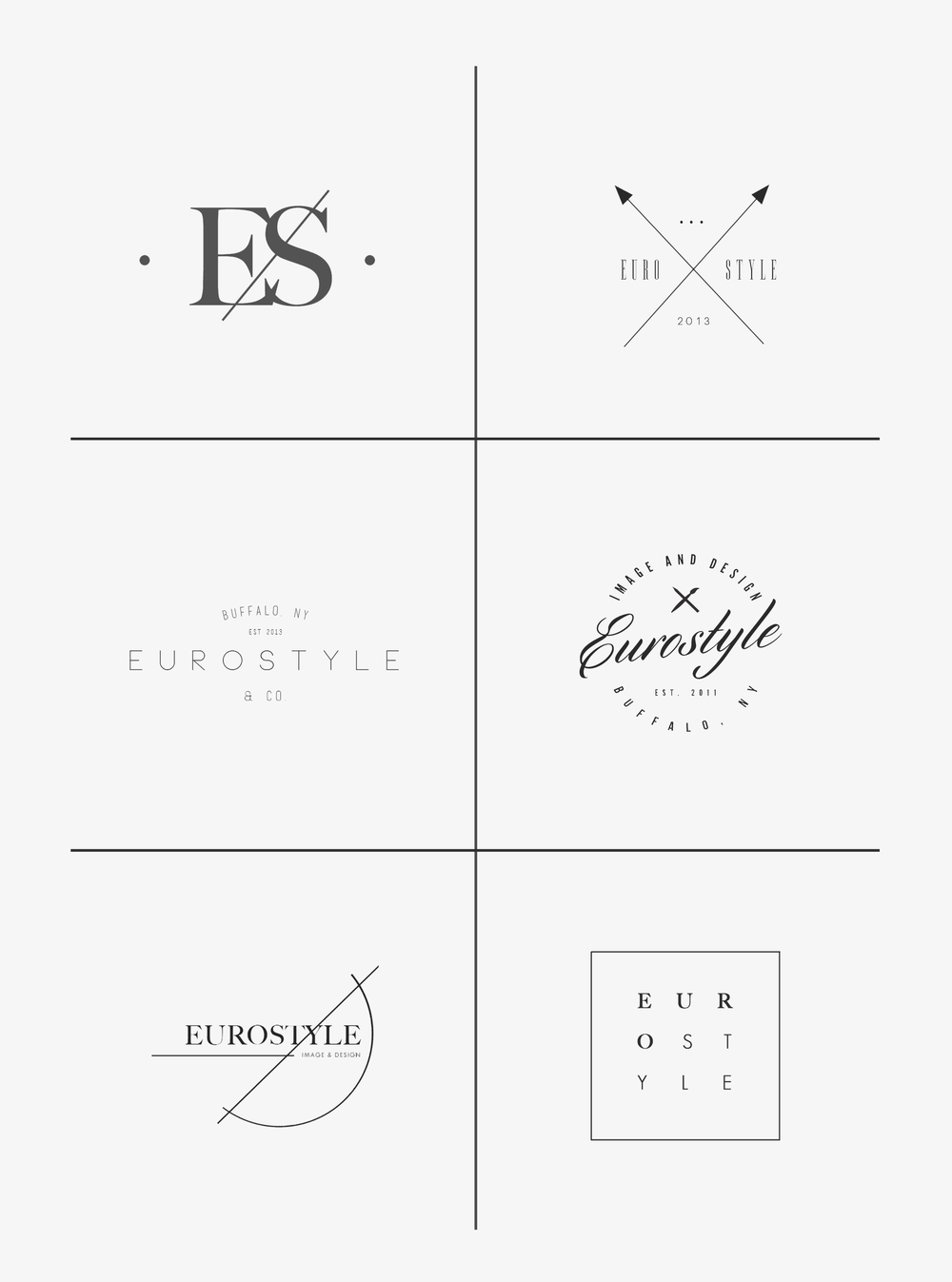 Portfolio eurostyle apparel logo christina laing they were looking for a design that had a hand drawn feel such as in old sketches and blueprints with modern elements mixed in as well fresh and clean malvernweather Choice Image
