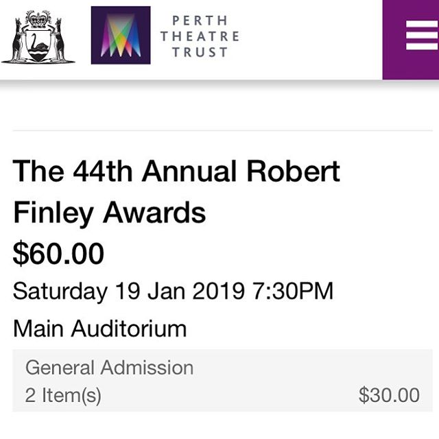 Have you got your tickets for the @ita_wa_inc #finleyawards
