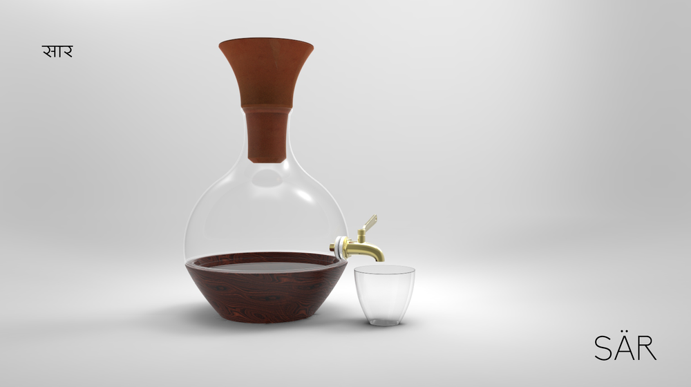 Sär  is a product borne of Tansculturation from India to America to create meaningful products, experiences and interactions in homes between people and products.  Sär  in  Hindi  translates to extract or essence.