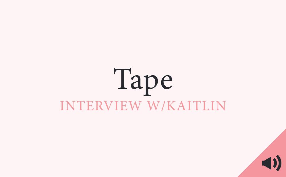 tape, mooj zadie, kaitlin prest, the heart interview