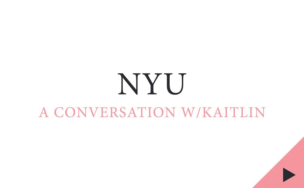 nyu, nyu journalism, kaitlin prest, a conversation with kaitlin prest, the heart nyu, the heart