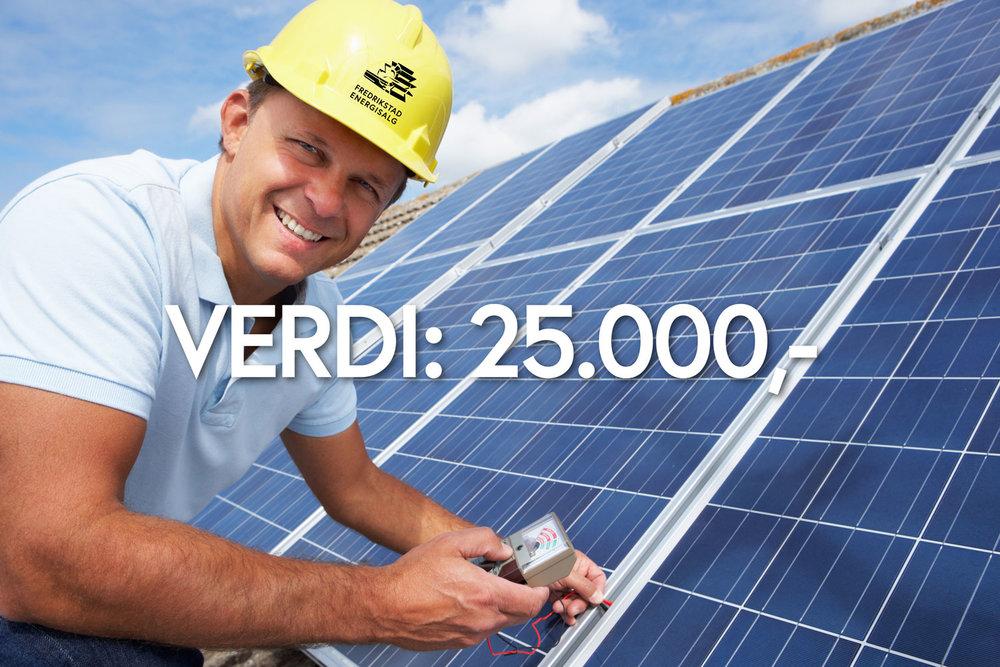 Ferdig montert solcelleanlegg