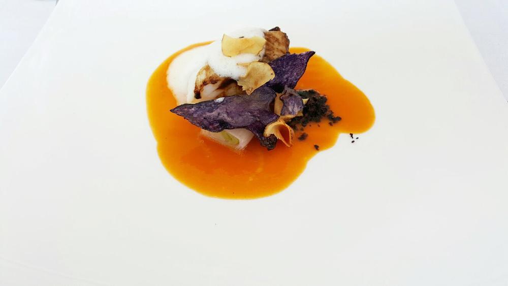 Uovo, con spuntature, capocollo di Martina Franca, anguilla al vincotto e pane di  Laterza.jpg