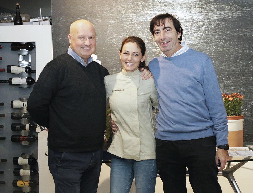 Michele Bruno con Alessandra Civilla e Alessandro Libertini