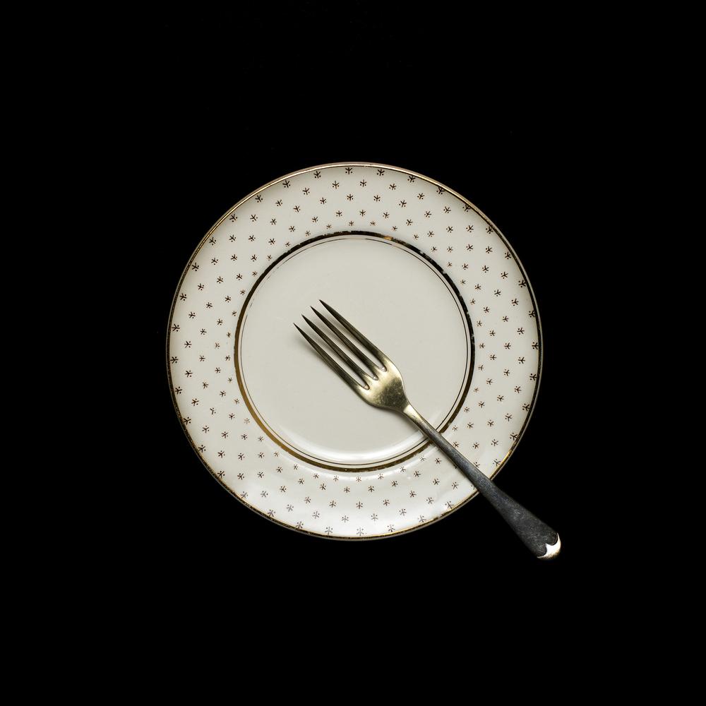 Vintage plate + fork