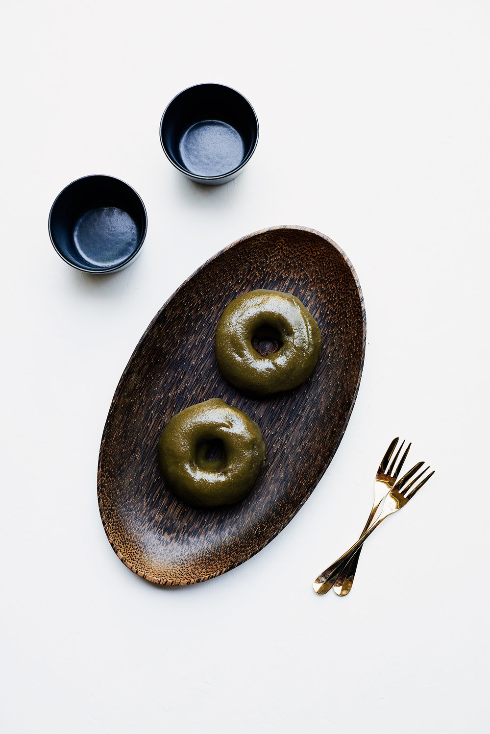 chocolate matcha donut