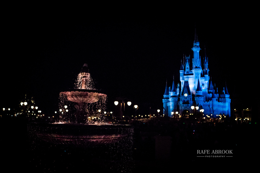 Magic Kingdom at night (so you can't see the construction crane behind the castle!)