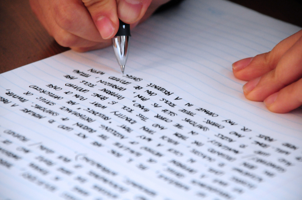 'Writing'  photo by jeffrey james pacres