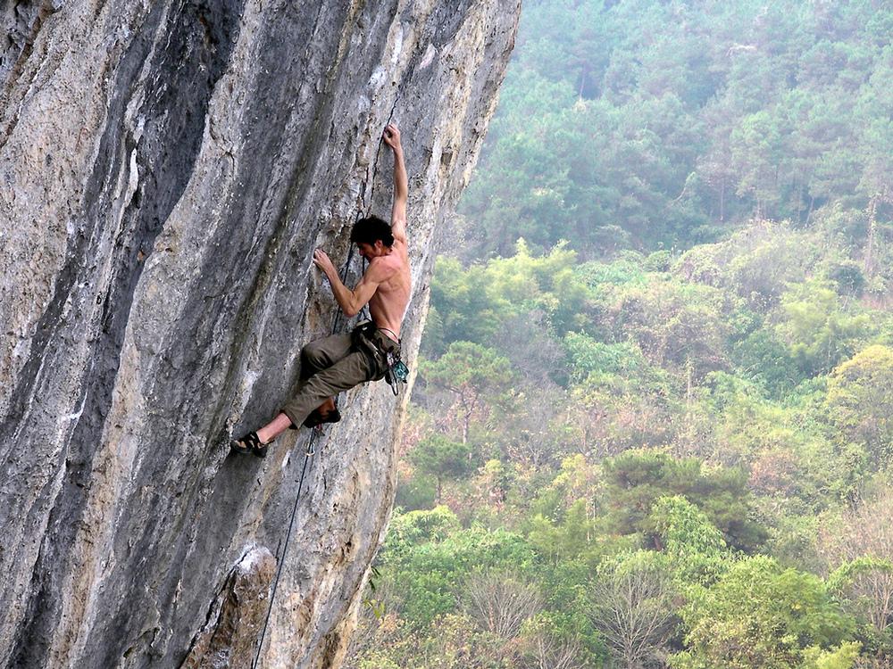 rock climbing @ lei pi shan, yangshuo china by Maria Ly